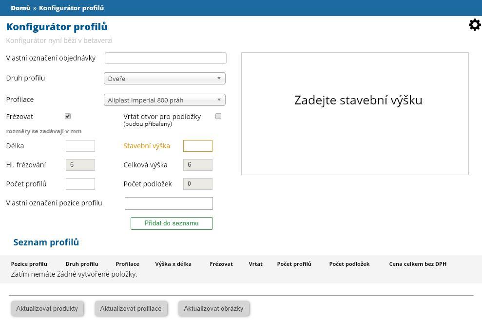 konfigurator profilu
