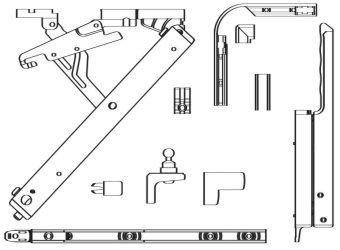 Otevírač nadsvětlíku Primat-FL 190, základní karton, Primat-FL 190 střední bronz C33