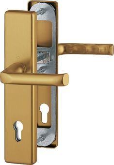 Dveřní kování London, klika-klika, 8/92 mm, 66-72 mm, bronz