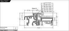 Balkonový práh Weser 74/32-TI EV1