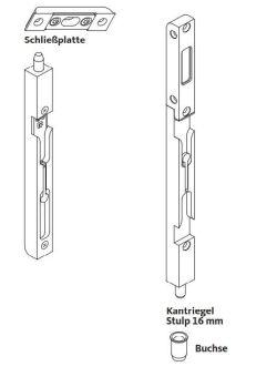Dveřní zástrč S.A. - balíček 2ks, pro dřevo falzluft 4/16mm K-15668-01-0-1
