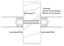 Oboustranný kotevní materiál 2.1 25/30mm, profil 56-75mm