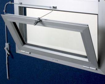 Soupravy pro otevírání oken s pantem dole 6m, bílá