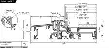 Balkonový práh Weser 108/32-TI EV1