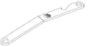 Seřizovací klíč pro uzavírací čepy a nůžky