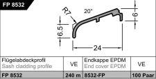 Křídlová okapnice FP 8532, G214 sv.bronz