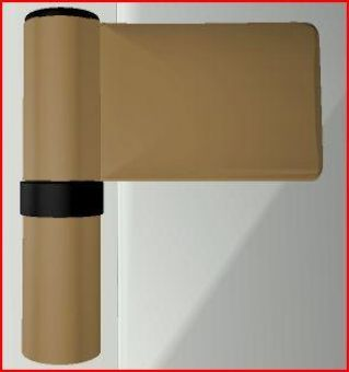 Dveřní pant KT-N 6R, 18-23mm, RAL1036 bronz