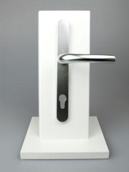Kování s úzkým štítkem Tokyo, klika-klika, 8/92mm, 67-72mm, F1 stříbrná