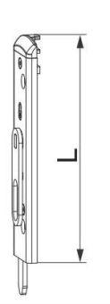 Dveřní zástrč U-6X32X6, pravá, L=130 mm,
