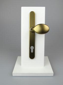 Kování s úzkým štítkem Tokyo, klika-koule, 8/92mm, 67-72mm, F4 bronz