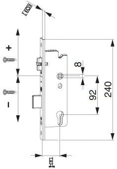 Krátký zámek Z-RS E92 DM35 PZ VK8 U-240X6/24/6 PT