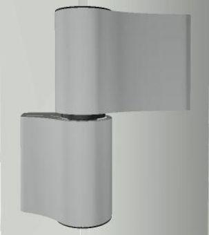 Dveřní pant TB-4, 2-dílný, rozteč 86mm, stříbrná + bílé plasty, kotva W