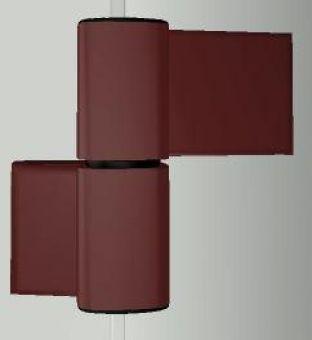 Dveřní pant S60AT-2 M7015E000 62,5/20,5+42mm, RAL8077 hnědý