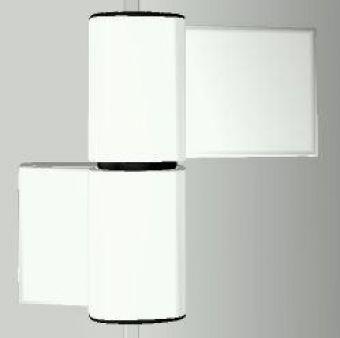 Dveřní pant S60AT-2 M7016E000 62,5/20,5+42mm, RAL9016 bílý