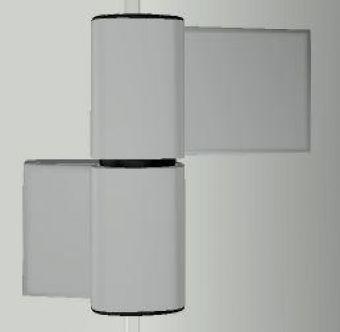 Dveřní pant S60AT-2 M7131E000 78/20,5+57,5mm, EV1 Elox