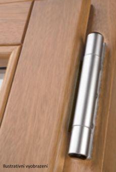 Dveřní pant Dynamic D3D pro osu 9mm, průměr 16mm, světlý bronz