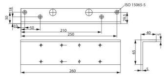 Montážní L plech A123 pro DC300