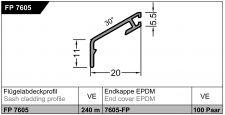 Křídlová okapnice FP 7605, EV1 stříbrná