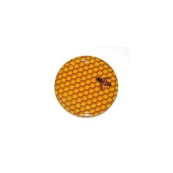 Víčko kovové TO 82 potisk Včela TPE