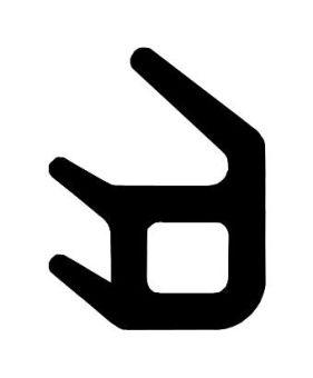 Toral TZL 44 / těsnění pod zasklívací lištu, černé