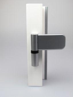Dveřní závěs Siku 3D 3030, bílý hliník (RAL9006)
