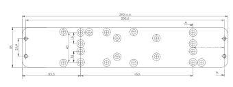 Montážní plech A126 pro DC340/347
