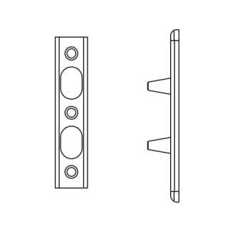 Zajištění pantové strany pro AL, U24x6mm GU K-17986-01-0-8