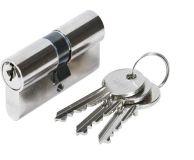 Vložka ABUS E45, 60/30+30, 3 klíče, šroub 80mm, nikl
