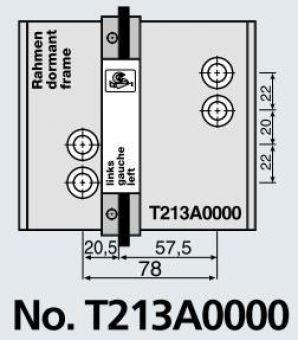 Vrtací šablona pro panty S60AT-2 78mm