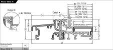 Balkonový práh Weser 96/32-TI EV1