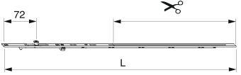 Štulpové prodloužení 2200 pro B-TV mm, 1 I-S