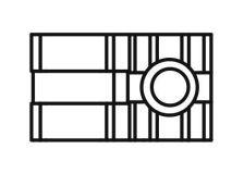 Vodítko tyče s příslušenstvím pro Primat-FL 190, černé