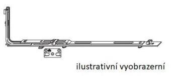 SKLOPNÁ ZÁVORA VODOROVNÁ VEL.628 I-S