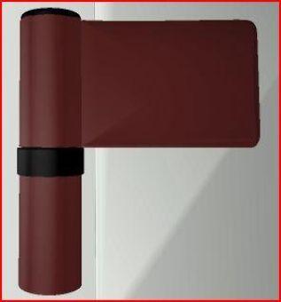 Dveřní pant KT-N 6R, 22-27mm, RAL8077 hnědý