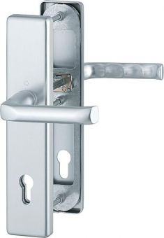 Dveřní kování London, klika-klika, 8/92 mm, 66-71 mm, F1-stříbrná