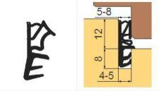 SH 112 TPE Profil s kordem pro výrobu dveří, béžový