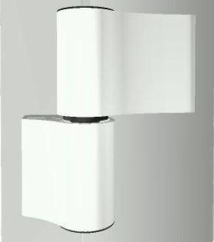 Dveřní pant TB-4, 2-dílný, rozteč 65mm, RAL9016 bílá + kotva W