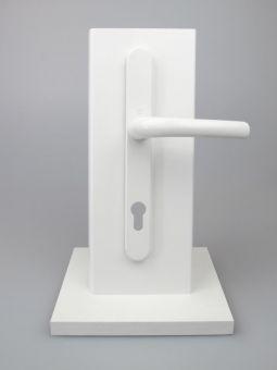 Kování s úzkým štítkem Tokyo, klika-klika, 8/92mm, 67-72mm, bílá RAL9016