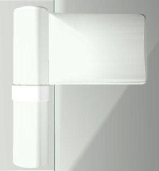 Dveřní pant KT-N 6R, 15-20mm, RAL9016 bílý