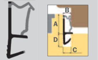 K 5586 Obvodové těsnění jednokomorové, béžové
