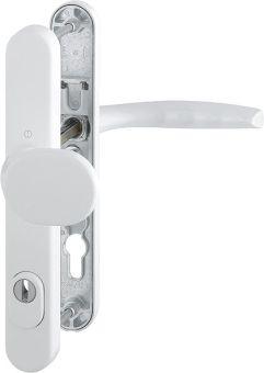 Dveřní kování Atlanta s překrytím, klika-koule, 8/92 mm, 67-72 mm, bílá
