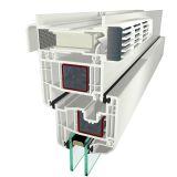 Větrací klapka s filtrem a manuálním ovládáním - GECCO 4, stříbrná+bílá