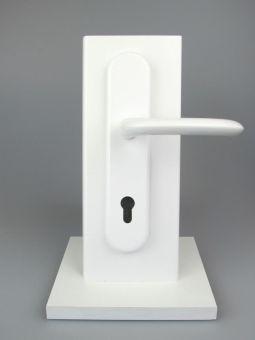 Dveřní kování Marseille, klika-klika, 8/92 mm, 66-71 mm, bílá