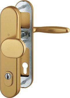 Dveřní kování Verona s překrytím, klika-koule, 8/92 mm, 66-71 mm, bronz