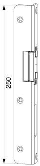 Hlavní protikus+AT díl, pravý, spára 4mm, osa 9 mm