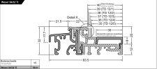 Balkonový práh Weser 84/32-TI EV1