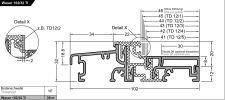 Balkonový práh Weser 102/32-TI EV1