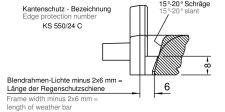 Koncovka KS 550/24 C (15°-20°) levá hnědá (Spree 24 OF)