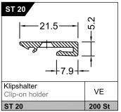 Klipsový držák ST 20