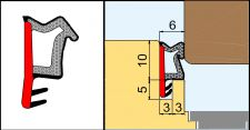 L 2110 Přídavné naléhávkové těsnění pro výrobu oken rustikalní hnědá